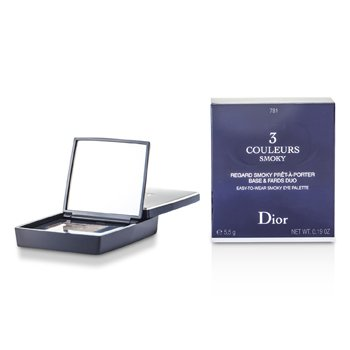 Christian Dior 3 Couleurs Smoky Ready To Wear Eyes Palette - # 781 Smoky Brown  5.5g/0.19oz