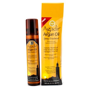 Hydrates  Conditions  Smoothes  Shine Spray Treatment (For All Hair Types) (Box Slightly Damaged) Agadir Argan Oil Hydrates  Conditions  Smoothes  Shine Spray T