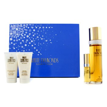 Elizabeth Taylor White Diamonds Coffret: Edt Spray 100ml/3.4oz + Body Lotion 50ml/1.7oz + Body Wash 50ml/1.7oz + Edt Spray 10ml/0.33oz  4pcs