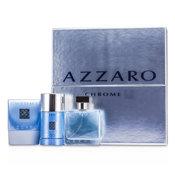 Loris AzzaroChrome Coffret: Eau De Toilette Spray 50ml/1.7oz + After Shave Balm 75ml/2.6oz + Deodorant Stick 75ml/2.7oz 3pcs