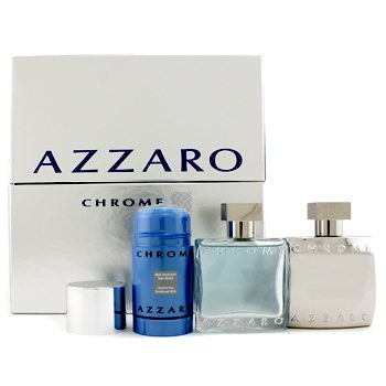 Loris AzzaroChrome Coffret: Eau De Toilette Spray 50ml/1.7oz + After Shave Lotion 50ml/1.7oz+ Deodorant Stick 75ml/2.7oz 3pcs