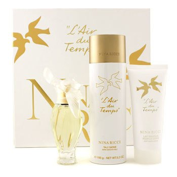 Nina Ricci L'Air Du Temps Coffret: Eau De Toilette Spray 50ml/1.7oz + Body Lotion 100ml/3.3oz + Satin Smooth Talc 150g/5.2oz  3pcs