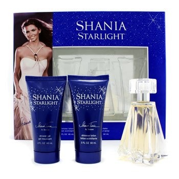 Shania Twain Shania Starlight Coffret: Eau De Toilette Spray 50ml/1.7oz + Shimmer Lotion 60ml/2oz + Shower Gel 60  3pcs