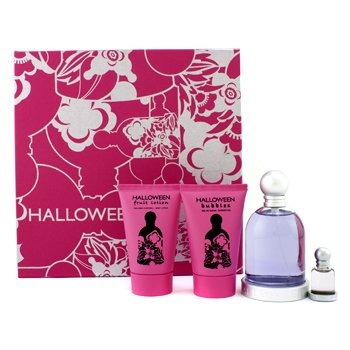 Jesus Del PozoHalloween Coffret: Eau De Toilette Spray 100ml/3.4oz+ Body Lotion 50ml/1.7oz + Shower Gel 50ml/1.7oz+ Miniature 4.5ml/0.15oz 4pcs