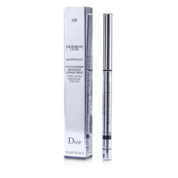 Christian Dior Diorshow Liner Waterproof Long Lasting Backstage Eyeliner - # 098 Carbon  0.3g/0.01oz