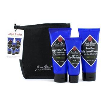 Jack BlackSet Viaje Pure Science Jet Set : Jab�n Limpiador 3oz + Espuma Afeitado 3oz + Hidratante Facial 1.5oz + Neceser 3pcs+1bag