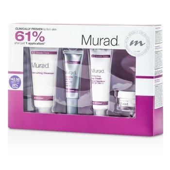 MuradSet Renovador Antienvejecimiento Achieve Ageless Complete Skin:Desmaquillador +Crema D�a+ Reforma Completa+Hidratante Innovador 4pcs