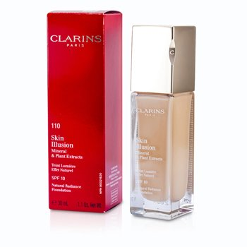 Clarins Skin Illusion Natural Radiance Foundation SPF 10 - # 110 Honey  30ml/1.1oz