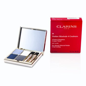 Clarins Paleta czterech cieni do powiek Eye Quartet Mineral Palette - #04 Indigo  5.8g/0.2oz