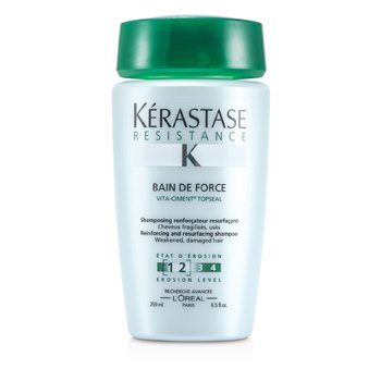 ResistanceResistance Bain De Force Reinforcing And Resurfacing Shampoo (Weakened, Damaged Hair) 250ml/8.5oz