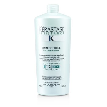 ResistanceResistance Bain De Force Reinforcing And Resurfacing Shampoo (Weakened, Damaged Hair) 1000ml/34oz