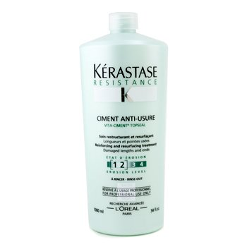 Kerastase Resistance Ciment Anti-Usure Reinforcing And Resurfacing Treatment (For Damaged Lengths & Ends)  1000ml/34oz