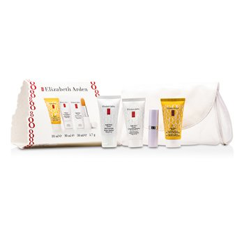 Elizabeth ArdenEight Hour Set: Skin Protectant + Intensive Daily Moist SPF15 + Sun Defense SPF 50 + Lip Protectant 4pcs+1bag