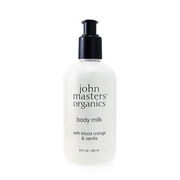 John Masters Organics Leite hidratante Blood Orange & Vanilla Body Milk  236ml/8oz