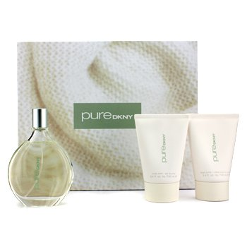 DKNY Pure Warmth A Drop Of Verbena rasia: Eau De Parfum suihke 100ml/3.4oz + Body Butter 100ml/3.4oz + vartalopesu 100ml/3.4oz  3pcs