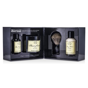 The Art Of ShavingThe 4 Elements Of The Perfect Shave - Unscented (New Packaging) (Pre Shave Oil + Shave Crm + A/S Balm + Brush) 4pcs