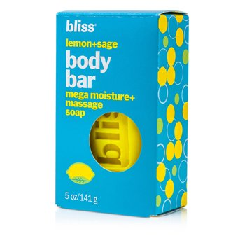 BlissSabonete Lemon + Sage Body Bar Mega Moisture+ Massage Soap 141g/5oz