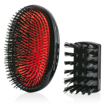 Image of Mason Pearson Boar Bristle - Large Extra Military Pure Bistle Large Size Hair Bush (Dark Ruby) 1pc