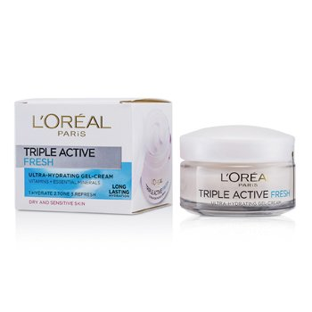 L'OrealGel Creme Triple Active Fresh Ultra-Hydrating (Pele Seca e Sens�vel) 50ml/1.7oz