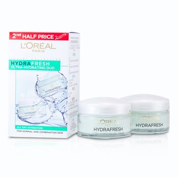 L'OrealHydrafresh 2 Crema Ultra Hidratante  (Piel Normal/Mixta) 2x 50ml/1.7oz