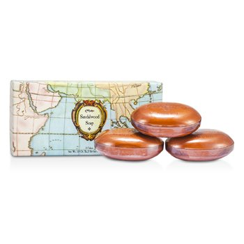 Caswell Massey Sandalwood Woodgrain Soap  3x164g/5.8oz