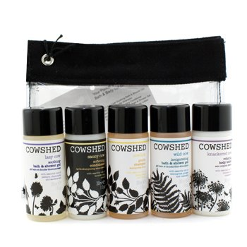 CowshedKit Pocket Cow Bath & Body: Shampoo + Conditioner + Gel amaciante Soothing + Invigorating Shower Gel + Lo��o corporal + Nescessaire 5x30ml+1bag