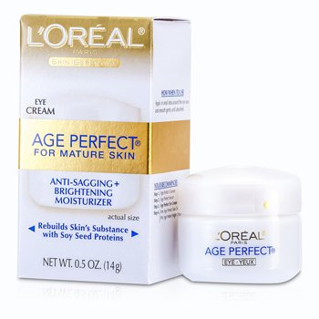 L'OrealSkin-Expertise Age Perfect Anti-Sagging + Brightening Eye Cream (Mature Skin) 14g/0.5oz