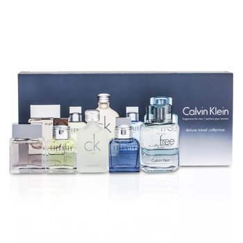 Calvin KleinDeluxe Travel Collection: Eternity 10ml + Euphoria 10ml + CK Free 10ml + Eternity Aqua 10ml + CK One 5pcs