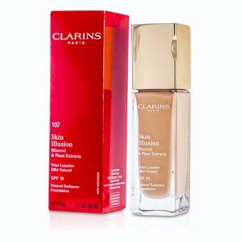 Clarins Podk�ad z SPF10 Skin Illusion Natural Radiance - # 107 Beige 402671  30ml/1oz