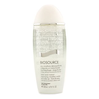 BiothermBiosource Total And Instant Agua desmaquilladora 200ml/6.76oz
