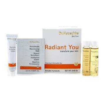 Dr. Hauschka Radiant You Kit (Normal/Dry): Cleansing Cream + Facial Toner + Lavender Bath + Rejuvenating Mask 4pcs