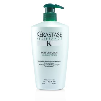 KerastaseResistance Bain De Force Reinforcing And Refinishing Shampoo (Weakened Hair) 500ml/16.9oz