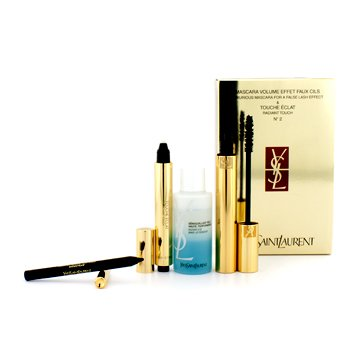 Luxurious Mascara & Touche Eclat Set: Luxurious Mascara + Touche Eclat + Eye Make Up Remover + Eye Pencil4pcs