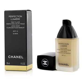 Chanel Base Perfection Lumiere Long Wear Flawless Fluid Make Up SPF 10 - # 60 Beige  30ml/1oz