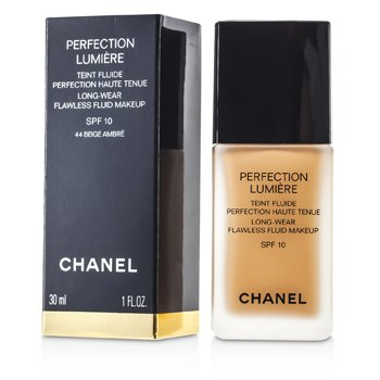 Chanel Perfection Lumiere Long Wear Flawless Fluid Make Up SPF 10 - # 44 Beige Amber  30ml/1oz