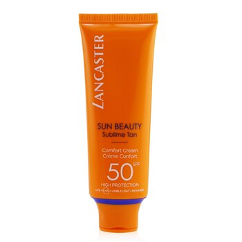 Lancaster Ochronny krem do twarzy Sun Beauty Comfort Touch Cream Gentle Tan SPF 50  50ml/1.7oz