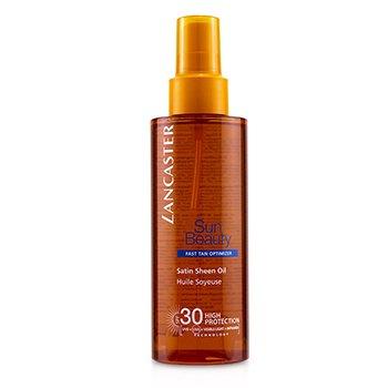 Купить Sun Beauty Satin Сияющее Масло для Быстрого Загара SPF 30 150ml/5oz, Lancaster