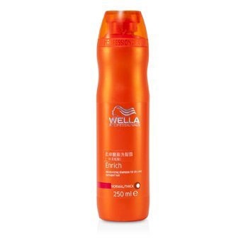 Wella Enrich Moisturizing Shampoo For Dry & Damaged Hair (Normal/ Thick)  250ml/8.4oz