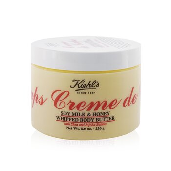 Kiehl'sCreme de Corps Soy Milk & Honey Whipped Body Butter Losion Tubuh 226g/8oz