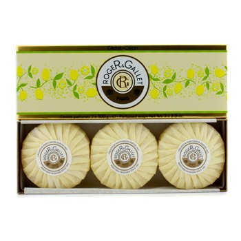Roge & GalletCedrat (Citron) Perfumed Soap Coffret 3x100g/3.5oz