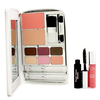 ClarinsBright White Palette: 1x Mini Mascara, 1x Mini Gloss, 6x Eye Shadow, 1x Powder Compact, 1x Blush, 2x Applicator