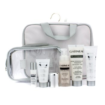 Gatineau Melatogenine Collection: Cleansing Cream 50ml + Force Collagene 30ml + Anti-Aging Cream 30ml + Mask 15ml + Eye Concentrate 5ml + Bag  5pcs+1bag