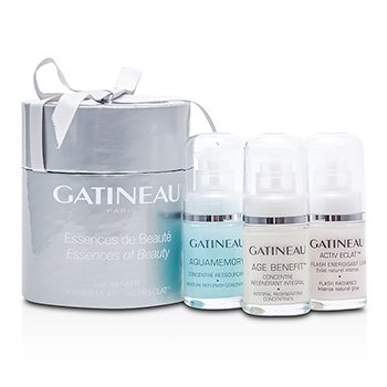 GatineauEssence Of Beauty � Age Benefit: Age Benefit 15ml + Moisture Concentrate 15ml + Flash Radiance 15ml 3x15ml/0.5oz