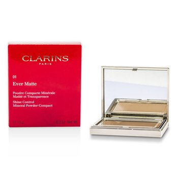 Clarins Matuj�cy puder prasowany Ever Matte Shine Control Mineral Powder Compact - #01 Transparent Light  10g/0.35oz