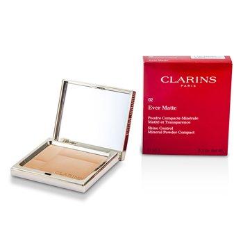 Clarins Matuj�cy puder prasowany Ever Matte Shine Control Mineral Powder Compact - #02 Transparent Medium  10g/0.35oz