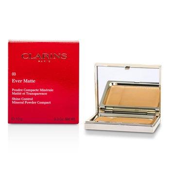 Clarins Matuj�cy puder prasowany Ever Matte Shine Control Mineral Powder Compact - #03 Transparent Warm  10g/0.35oz