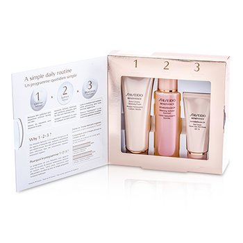 Shiseido Benefiance 1-2-3 Kit: Balancing Softener Enriched 100 ml + Cleansing Foam 75ml  + Day Cream 30ml  3pcs