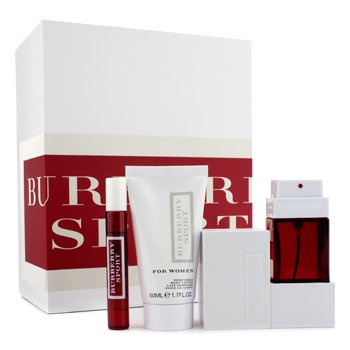 Burberry Burberry Sport For Woman Coffret: Edt Spray 50ml/1.7oz + Body Lotion 50ml/1.7oz + Edt Spray 7.5ml/0.25oz  3pcs
