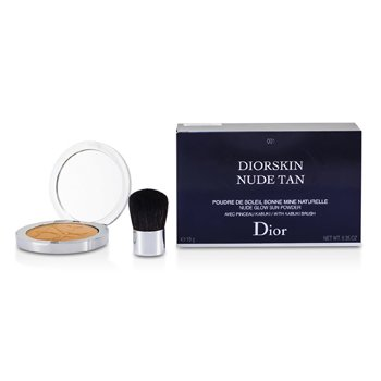 Christian DiorDiorskin Nude Tan Nude Glow Sun Powder (With Kabuki Brush) - # 001 Honey 10g/0.35oz