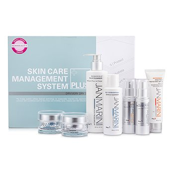 Jan MariniSkin Care Management System Plus: Cleanser + Gentle Cleanser + Face Protectant + Serum + 2x Face Cream + Face Lotion (Dry/Very Dry Skin) 7pcs